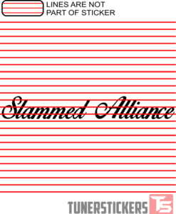 Slammed Alliance Windshield Sticker