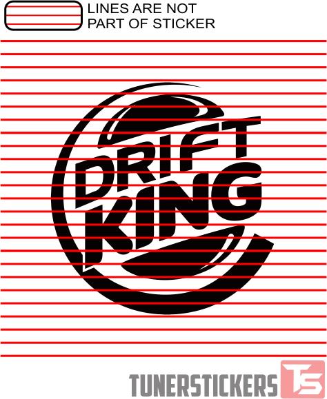 Drift King Tuner Stickers