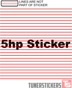 5 Horsepower Sticker
