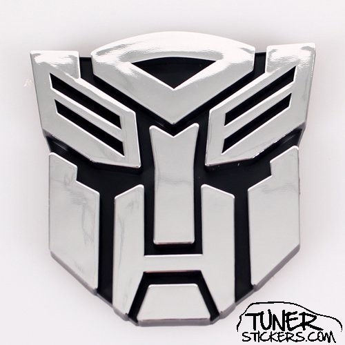 large transformers autobots badge tuner stickers