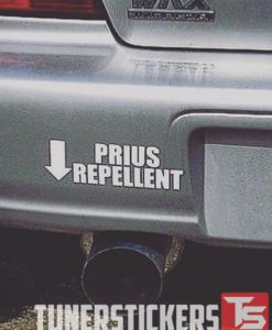 Prius Repellent Decal Sticker