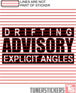 Drifting Advisory Explicit Angles