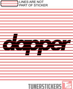 dapper Windshield Sticker