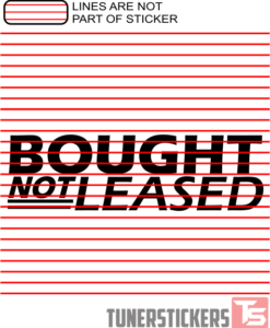 Bought Not Leased