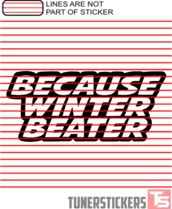 Because Winter Beater