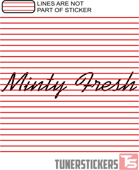 Minty Fresh Window Banner Tuner Stickers