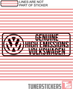 Genuine High Emissions Volkswagen