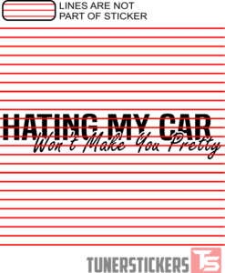 Hating My Car Won't Make You Pretty