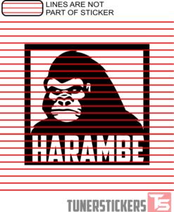 Harambe Window Decal Sticker