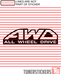 AWD All Wheel Drive Sticker Decal