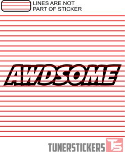 AWDSOME Sticker Decal