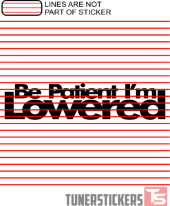 be-patient-im-lowered-sticker-decal