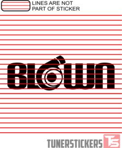 Blown Turbo Sticker Decal