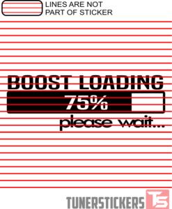 Boost Loading Please Wait Sticker Decal