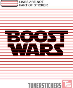Boost Wars Sticker Decal
