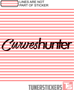 Curves Hunter Sticker Decal