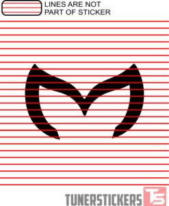 Evil Mazda Logo Sticker Decal