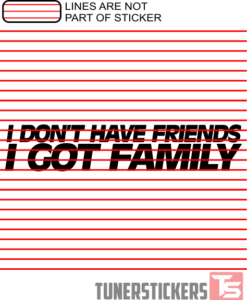 I Don't Have Friends I Got Family Sticker Decal