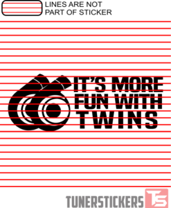 It's More Fun With Twins Sticker Decal