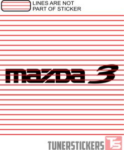 Mazda 3 Logo Sticker Decal