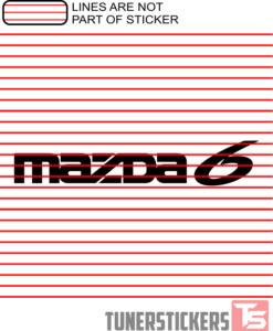 Mazda 6 Logo Sticker Decal
