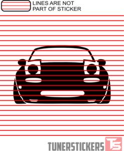 Mazda MX5 Miata Silhouette Outline Sticker Decal