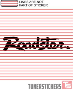 Mazda Miata Roadster Logo Sticker Decal