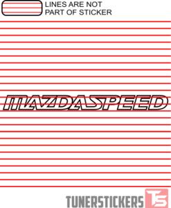 Mazdaspeed Logo Sticker Decal