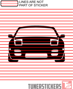 Nissan 240SX S13 Silhouette Outline Sticker Decal
