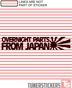 Overnight Parts From Japan Sticker Decal