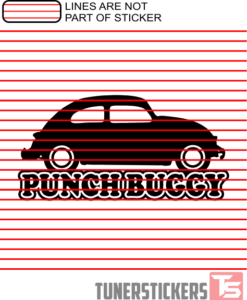 Punch Buggy Sticker Decal