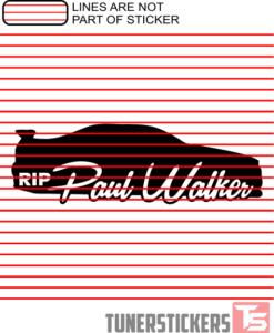 RIP Paul Walker Sticker Decal