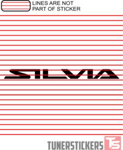Silvia Nissan Logo Sticker Decal