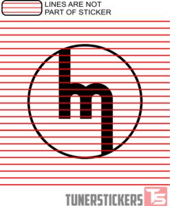 Vintage Mazda Logo Sticker Decal