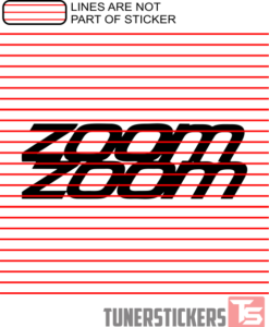 Zoom Zoom Stack Sticker Decal