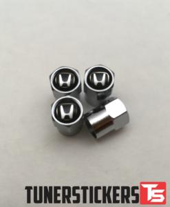 Honda Black Valve Caps