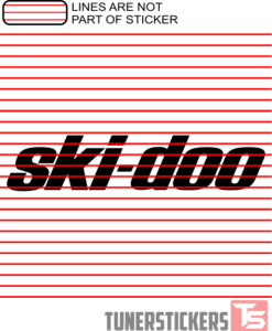 Ski-doo Logo Sticker Decal