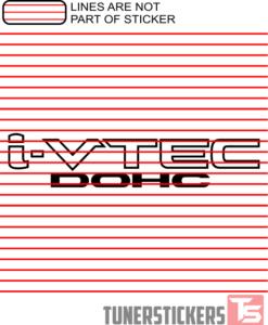 I-Vtec DOHC Logo Sticker Decal