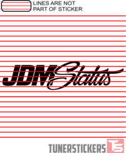 JDM Status Sticker Decal