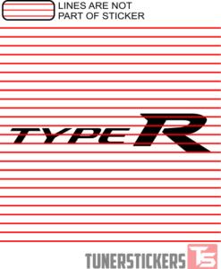 Type R Honda Logo Sticker Decal