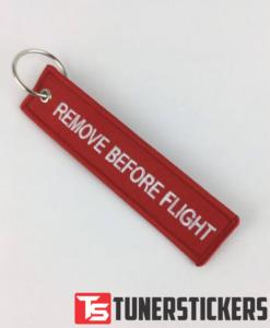 Remove Before Flight Keychain