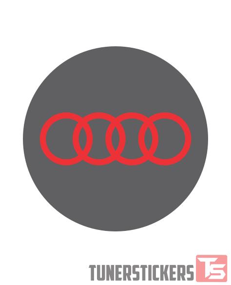 Audi Logo Center Cap Stickers Tuner Stickers - Audi circle