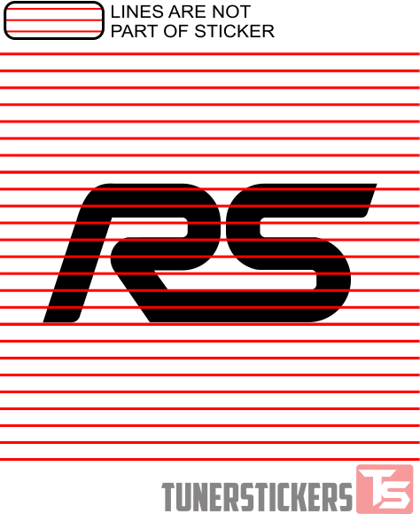 ford focus rs logo - tuner stickers