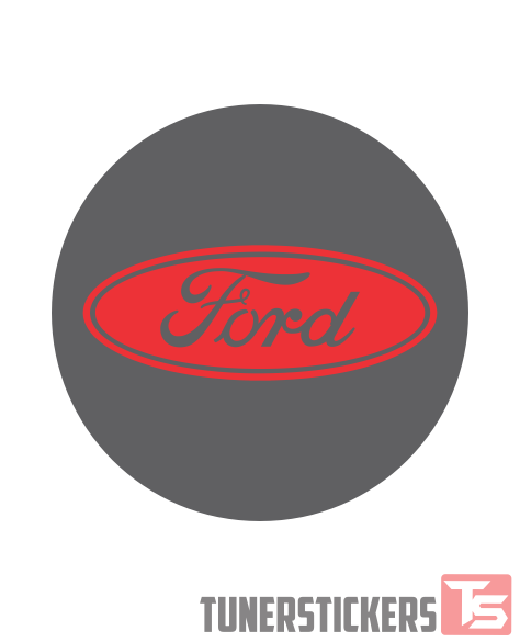 Ford Logo Center Cap Stickers Tuner Stickers