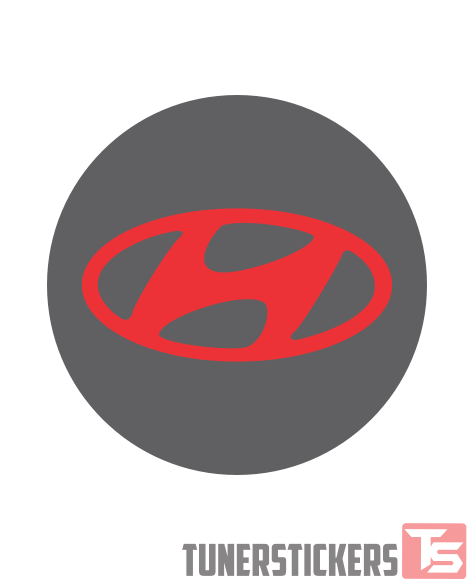 Hyundai Logo Center Cap Stickers