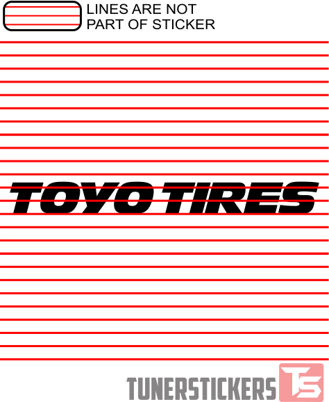 toyo tires logo - tuner stickers