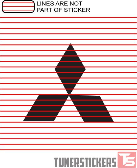 Estrellina-Montage-Rakel/®,Estrellina myrockshirt Mitsubishi-Logo Mitsubishi Mitsubishi-Logo 100 cm Aufkleber Sticker Auto Tunig D